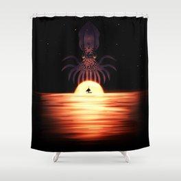 Kraken the Sky Shower Curtain