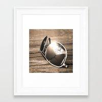sunglasses Framed Art Prints featuring Sunglasses by Cs025