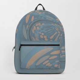 Soft Blue and Beige Circle Abstract Backpack
