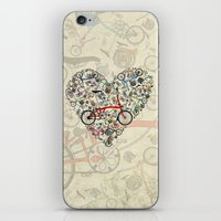 brompton iPhone & iPod Skins featuring I Love Brompton Bikes by Wyatt Design