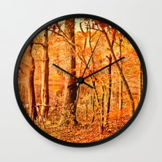 Tuesday led to the water's edge Wall Clock