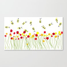 Bee Field Canvas Print