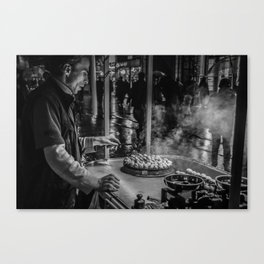 Istanbul : A Fusion of Black and White Canvas Print