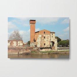 The Guelph Tower And Medici Citadel In Pisa Metal Print