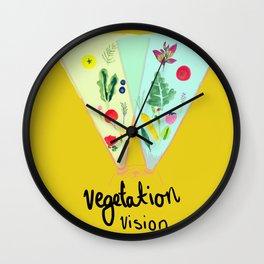 Vegetation Vision Cat Wall Clock