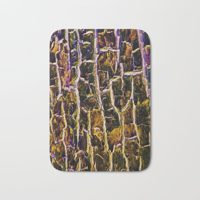 Jewel Toned Topaz Tree Bark Bath Mat