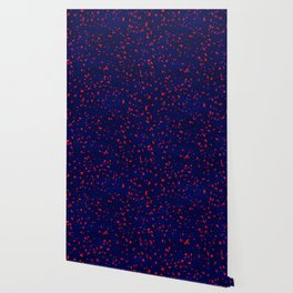 Terrazzo memphis blue galaxy orange Wallpaper