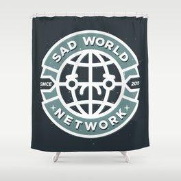 SAD WORLD NEWS NETWORK Shower Curtain