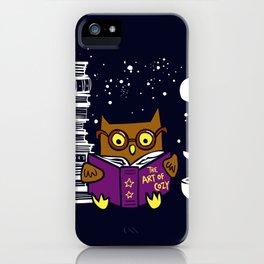 Owl Night Reader iPhone Case