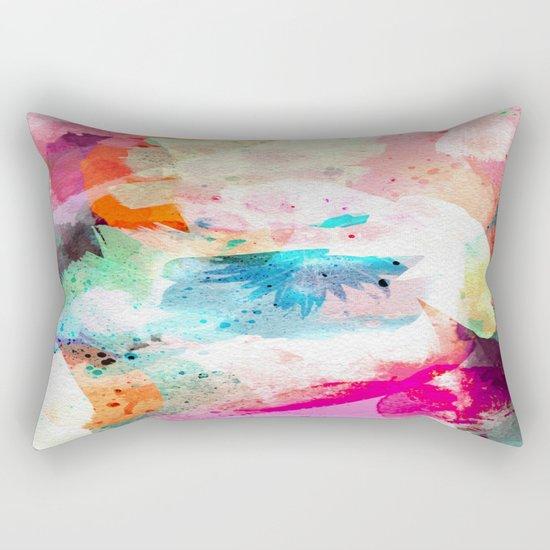 Abstract Color Paint Rectangular Pillow