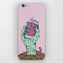 Forever Thirsty, zombie art iPhone Skin