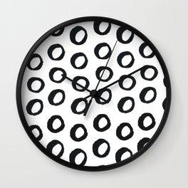 Inked Circles Wall Clock