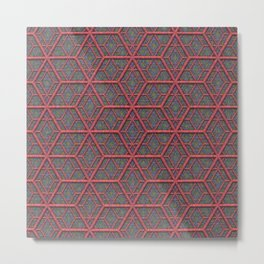 Gridlines Metal Print