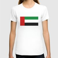 arab T-shirts featuring United Arab Emirates country flag by tony tudor