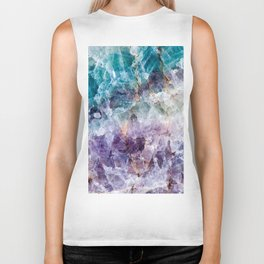 Turquoise & Purple Quartz Crystal Biker Tank