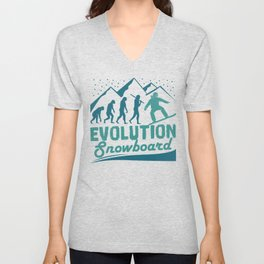 Evolution Snowboard Unisex V-Neck