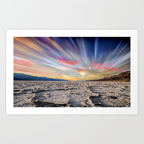 Stopping Time : Colorful Sky Landscape Art Print