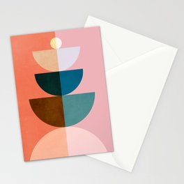 Abstraction_NEW_SHAPE_COLOR_BALANCE_POP_ART_001QM Stationery Cards