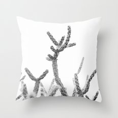 the rising bw Throw Pillow