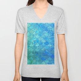 Summer Dream Colorful Trendy Mermaid Scales Unisex V-Neck