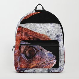Dead Fish Face Abstract Four Mummy Backpack