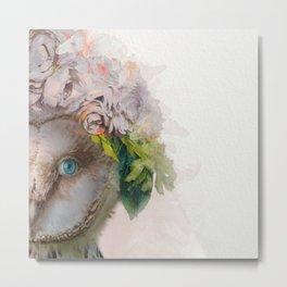 Animal Art - Owl Painting Metal Print