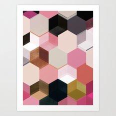colour + pattern 17 Art Print
