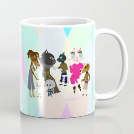 PASTEL COLOR FASHIONISTA CATS Coffee Mug