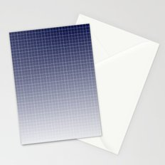 Gradient grid Stationery Cards