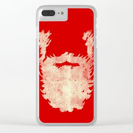 Santa Beard 2 Clear iPhone Case