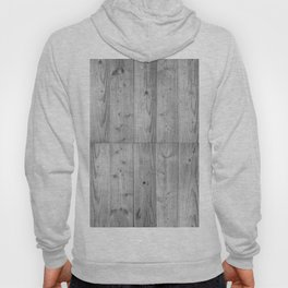 Wood Planks in black and white Hoody