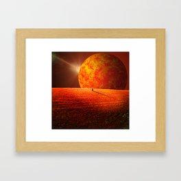 Scorched Earth Framed Art Print