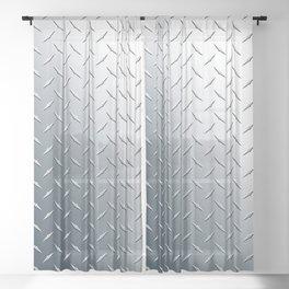 Diamond Plate Metal Pattern Sheer Curtain