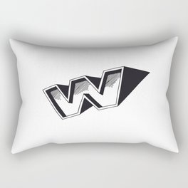The Alphabetical Stuff - W Rectangular Pillow