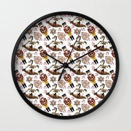 Nutcracker white Wall Clock