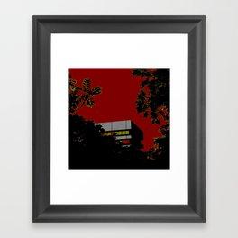 House & trees Framed Art Print