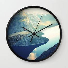 Trolltunga Landscape Scandinavian Norway Wall Clock