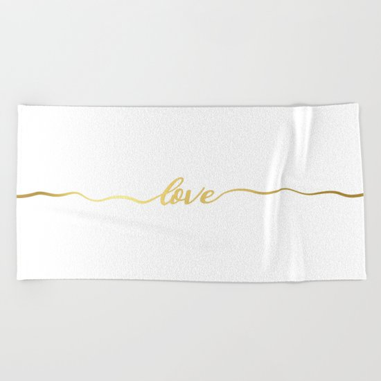 golden love Beach Towel