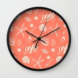 Sea shells patten Wall Clock