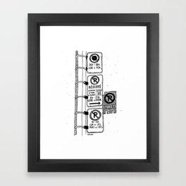 Montréal - Parking Hell - Black Framed Art Print