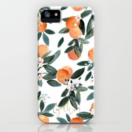 Dear Clementine - oranges on white iPhone Case