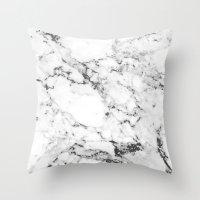 marble Throw Pillows featuring Marble by MatiasMilton