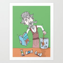 Brightly Island Mixing Potions Art Print