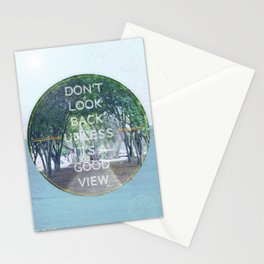 Don't Look Back Unless It's A Good View Stationery Cards