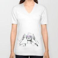 iggy azalea V-neck T-shirts featuring Iggy Azalea 2 by Tiffany Taimoorazy