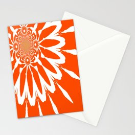 The Modern Flower Orange Stationery Cards