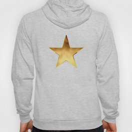 Gold Metallic Stars Design Hoody