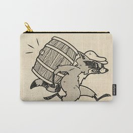 THE  WHISKEY SMUGGLER - vintage cartoon 80's Carry-All Pouch