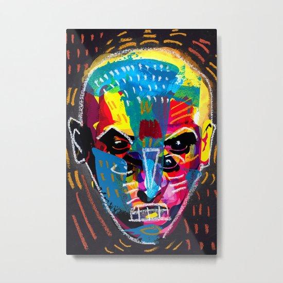 head 001 Metal Print