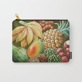 Exotic Fruits Still Life Color Pencils Art Carry-All Pouch